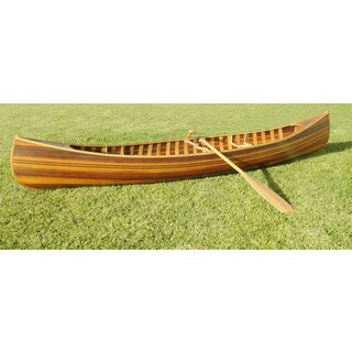 10-foot Matte Finish Ribbed Curved Bow Display Canoe