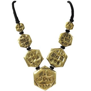 Luxiro Antique Gold-tone or Silver-tone Symbolic Medallion Necklace (2 options available)