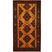 Handmade Herat Oriental Afghan Balouchi Wool Rug (Afghanistan) - 3'8 x 6'6
