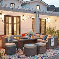 Havenside Home Gianni Outdoor 7-piece Modular Sectional Set