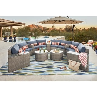 Oliver & James Ari Outdoor 11-piece Modular Sectional Set
