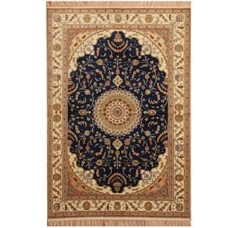 Handmade One-of-a-Kind Kashmiri Silk Rug (India) - 4' x 6'