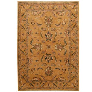 Herat Oriental Afghan Hand-knotted Oushak Wool Rug (4'1 x 5'7)