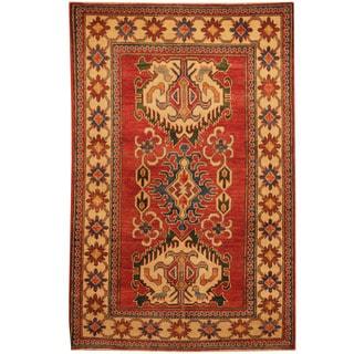 Herat Oriental Afghan Hand-knotted Kazak Wool Rug (3'10 x 6')