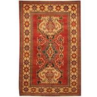 Herat Oriental Afghan Hand-knotted Kazak Wool Rug - 3'10 x 6'