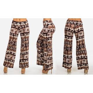 Women's Printed Stretchy Palazzo Pants