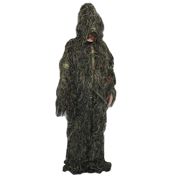 SAS Green Nylon Camo Ghillie Suit with Carrying Bag (3-piece Set)