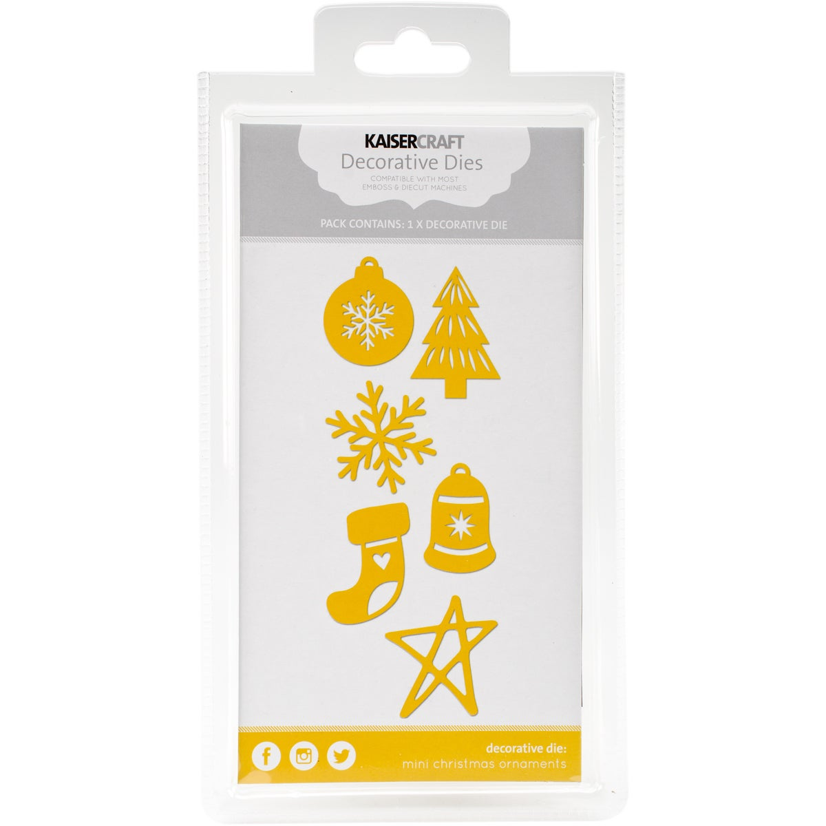 "Kaisercraft Dies-Mini Christmas Ornaments To 1""X1.5"" (Min..."