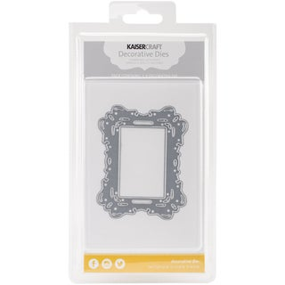 "Kaisercraft Die-Rectangle Ornate Frame 3.75""X3"""