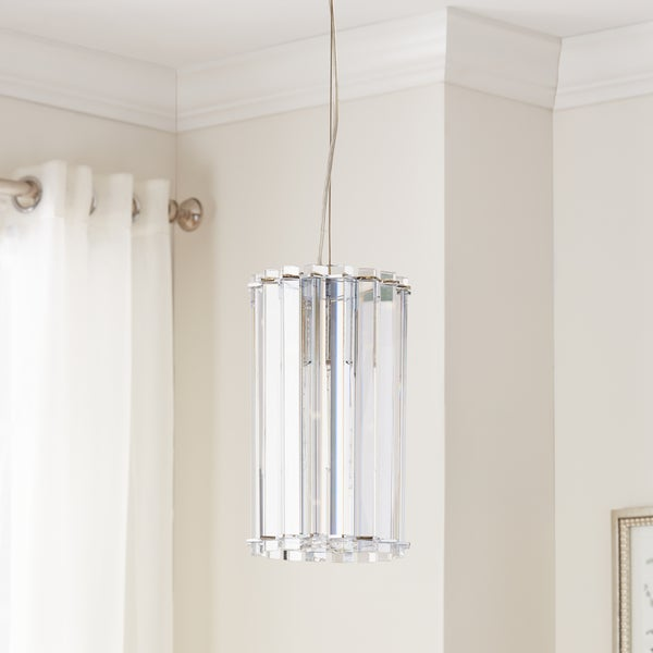 Kichler Lighting Crystal Skye Collection 1-light Chrome Mini Pendant