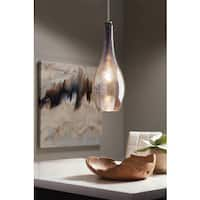 Kichler Lighting Everly Collection 1-light Brushed Nickel Pendant 19 inch Diameter