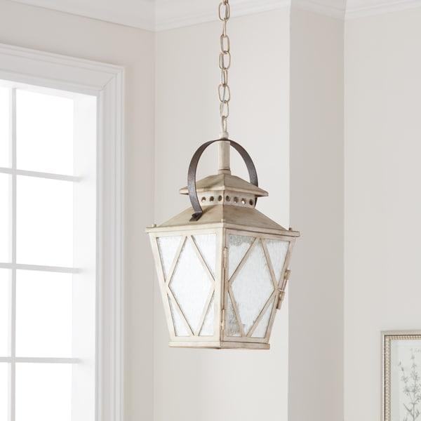 Kichler Lighting Hayman Bay Collection 2-light Distressed Antique White Pendant