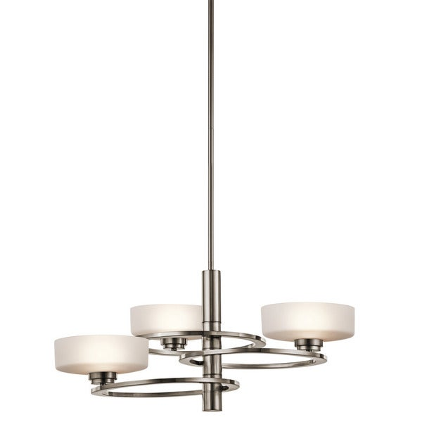 Kichler Lighting Aleeka Collection 3-light Classic Pewter Halogen Chandelier