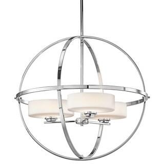 Kichler Lighting Olsay Collection 3-light Chrome Halogen Chandelier