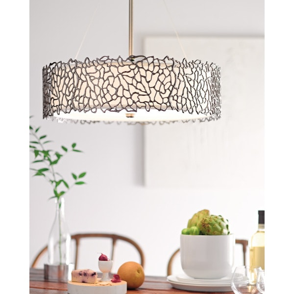 Kichler Lighting Silver C Collection 4 Light Clic Pewter Chandelier Pendant