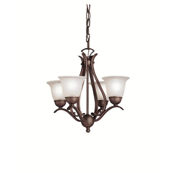 Kichler Lighting Dover Collection 4-light Tannery Bronze Mini Chandelier
