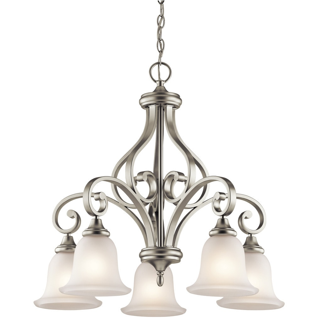 Gracewood Hollow Feraoun Collection 5-light Brushed Nickel Chandelier