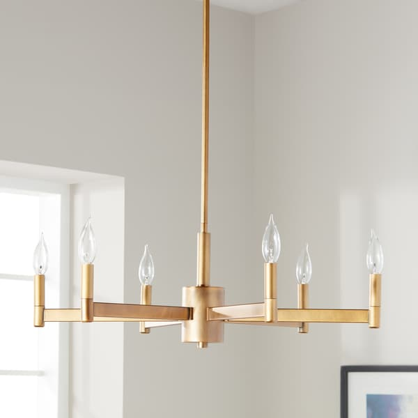 Kichler Lighting Erzo Collection 6-light Natural Brass Chandelier
