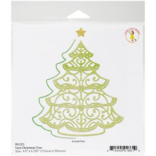 """Cheery Lynn Designs Doily Die-Lace Christmas Tree, 4.5"""" To 2.125"""""""
