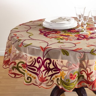 Embroidered Tablecloth - 72 x 72