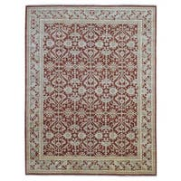 FineRugCollection Peshawar Red Wool Handmade Area Rug - 8' x 10'3