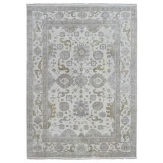FineRugCollection Handmade Oushak Beige, Grey Wool Rug (9' x 12'1)
