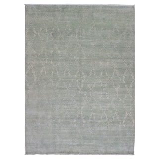 FineRugCollection Oushak Turkish Knot Beige Wool Handmade Rug (10' x 13'8)