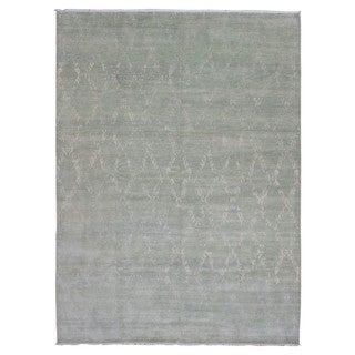 Fine Rug Collection Oushak Turkish Knot Beige Wool Handmade Rug (10' x 13'8)