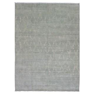 FineRugCollection Oushak Turkish Knot Beige Wool Handmade Rug (10' x 13'8)
