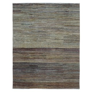 "FineRugCollection Handmade Modern Beige Wool Rug (7'10"" x 10')"