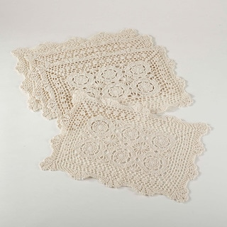 Handmade Crochet Lace Placemats Set of 4