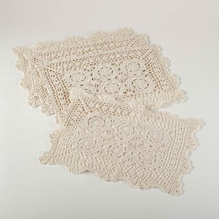 Handmade Crochet Lace Placemats Set of 4 (4 options available)