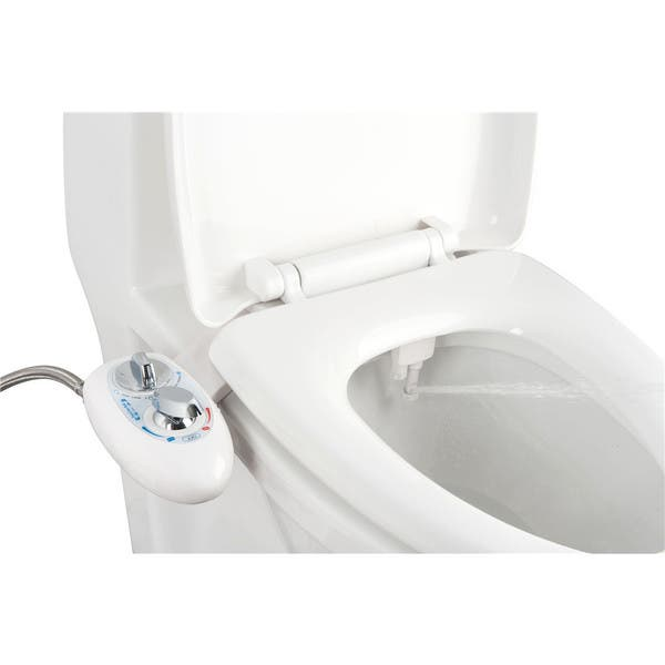 Shop Bidet4me Mb 2200 Self Cleaning Dual Nozzles Hot And Cold Water Non Electric Mechanical Bidet White Toilet Attachment Overstock 13454727