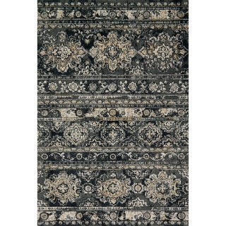 Microfiber Transitional Distressed Ornate Rug