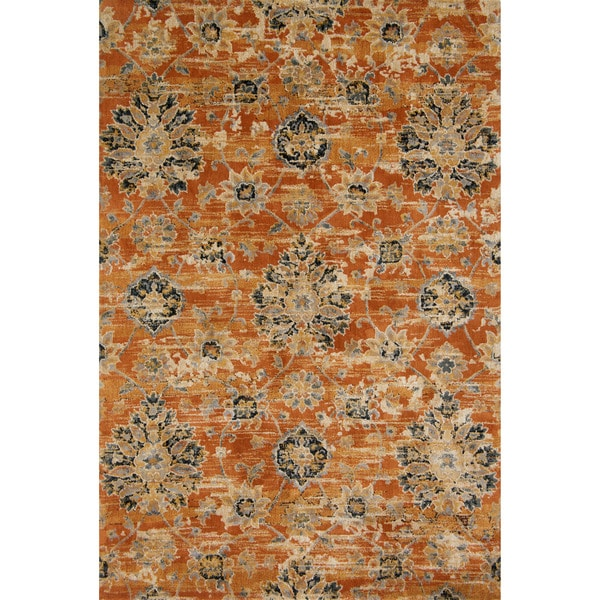 Damask Taupe Rug: Shop Microfiber Transitional Taupe Floral Damask Rug