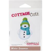 """CottageCutz Die-Winter Snowman, 1.9""""X2.8"""""""
