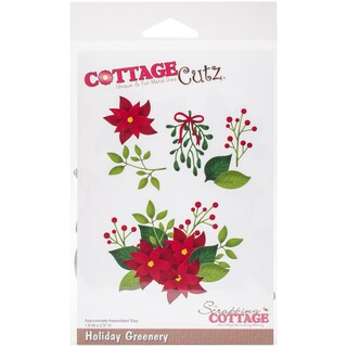 "CottageCutz Die-Holiday Greenery, 1.8""X2.5"""