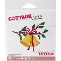 "CottageCutz Die-Christmas Holly Bells, 3.4""X2.8"""