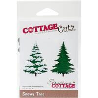 """CottageCutz Die-Snowy Tree, 2.2""""X3.1"""""""