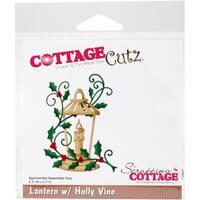 """CottageCutz Die-Lantern W/Holly Vine, 2.3""""X3.1"""""""