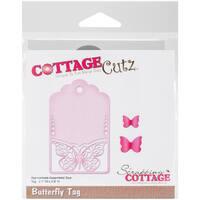 "CottageCutz Die-Butterfly Tag, 2.1""X3.9"""