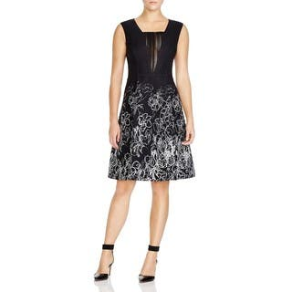 Elie Tahari Women's Lindsay Black Floral Scribble Dress|https://ak1.ostkcdn.com/images/products/13454851/P20144164.jpg?impolicy=medium