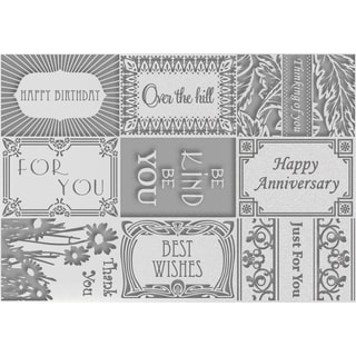 Couture Creations Embossing Folder A4-Sayings