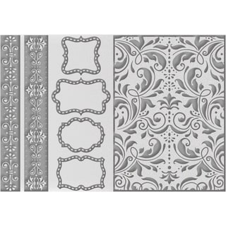 Couture Creations Embossing Folder A4-Borders Tags & More
