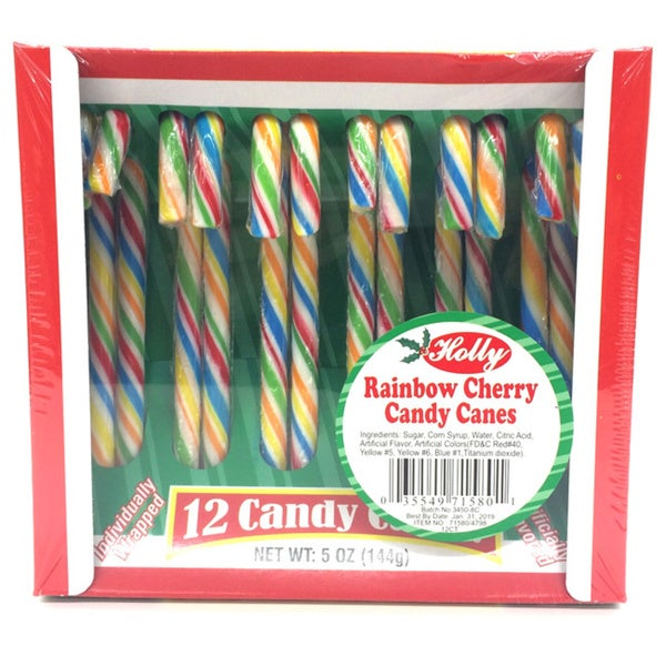 shop holly rainbow candy canes free shipping on orders over 45