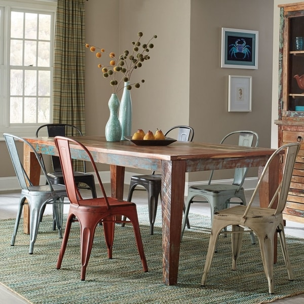 Captivating Artistic Vintage Industrial Design Dining Set