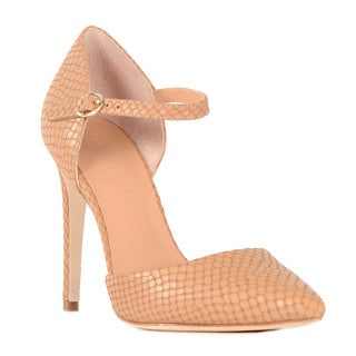 Halston Heritage Christina Snake Effect Leather Pump