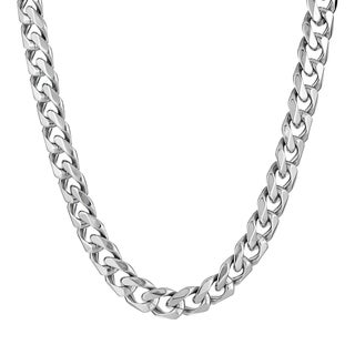 Stainless Steel Men's Curb Chain Necklace, 22""