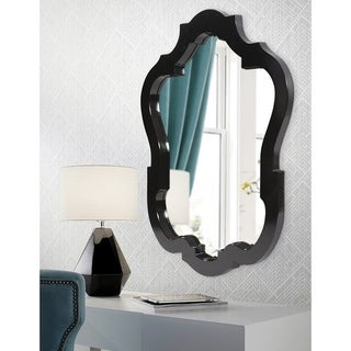 Asbury Glossy Black Wall Mirror