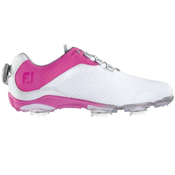 FootJoy DNA BOA Golf Shoes Ladies White/Fuchsia